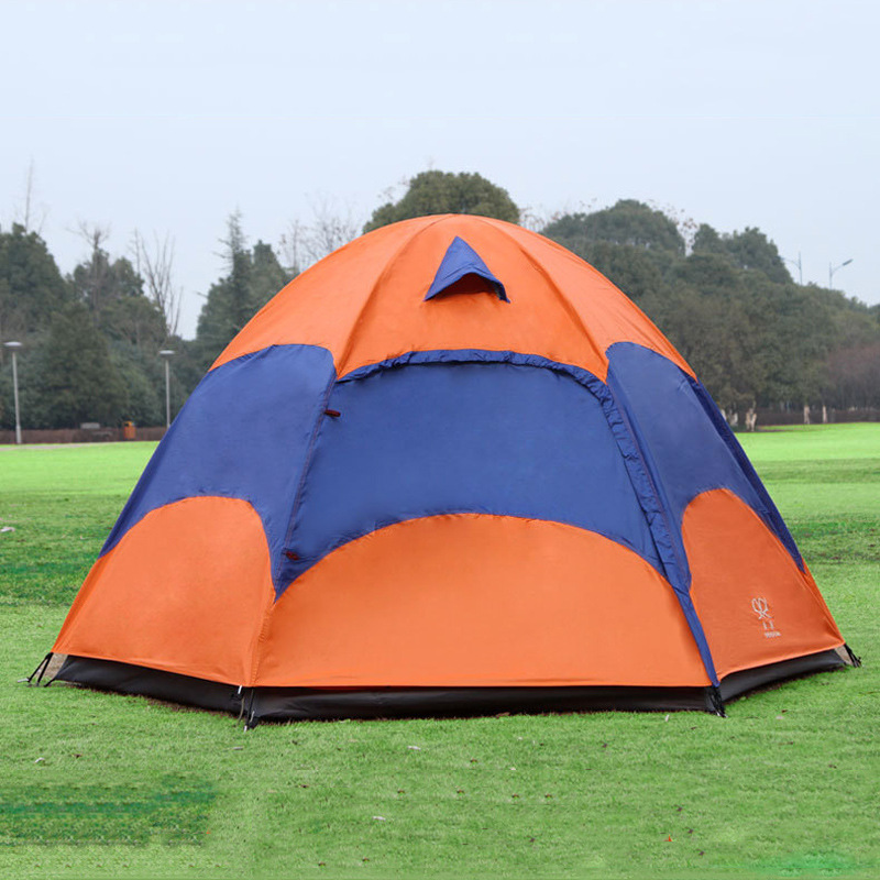 Outdoor tents 5-8 person double layer waterproof UV wigwam large recreational camping tent(China (Mainland))