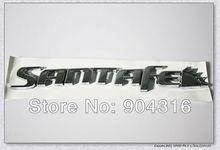 The new Hyundai Santa Fe England SANTAFE car sticker silver car labeling  dimensional decorative alphabet stickers free shipping(China (Mainland))