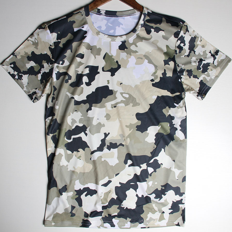 High Quality Hunting Camouflage Tee Shirts Mens Camo Outdoors Camp T Shirts Army Tactical Combat Short Sleeve Muscle Tshirts(China (Mainland))