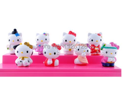 8 шт. / комплект прекрасный Hello kitty пвх коллекция рисунок модель игрушка 5 см