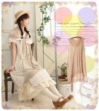 Fashion Preppy Japan Korean Style Mori Girl Forest Kawaii Lolita Cute Cotton Patchwork Lace Dress Sleeveless Casual Tank Dresses