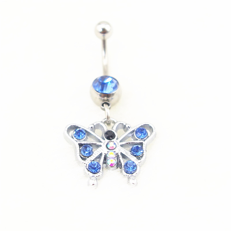 Buy new fashion lovely hollow butterfly for Belly button jewelry store