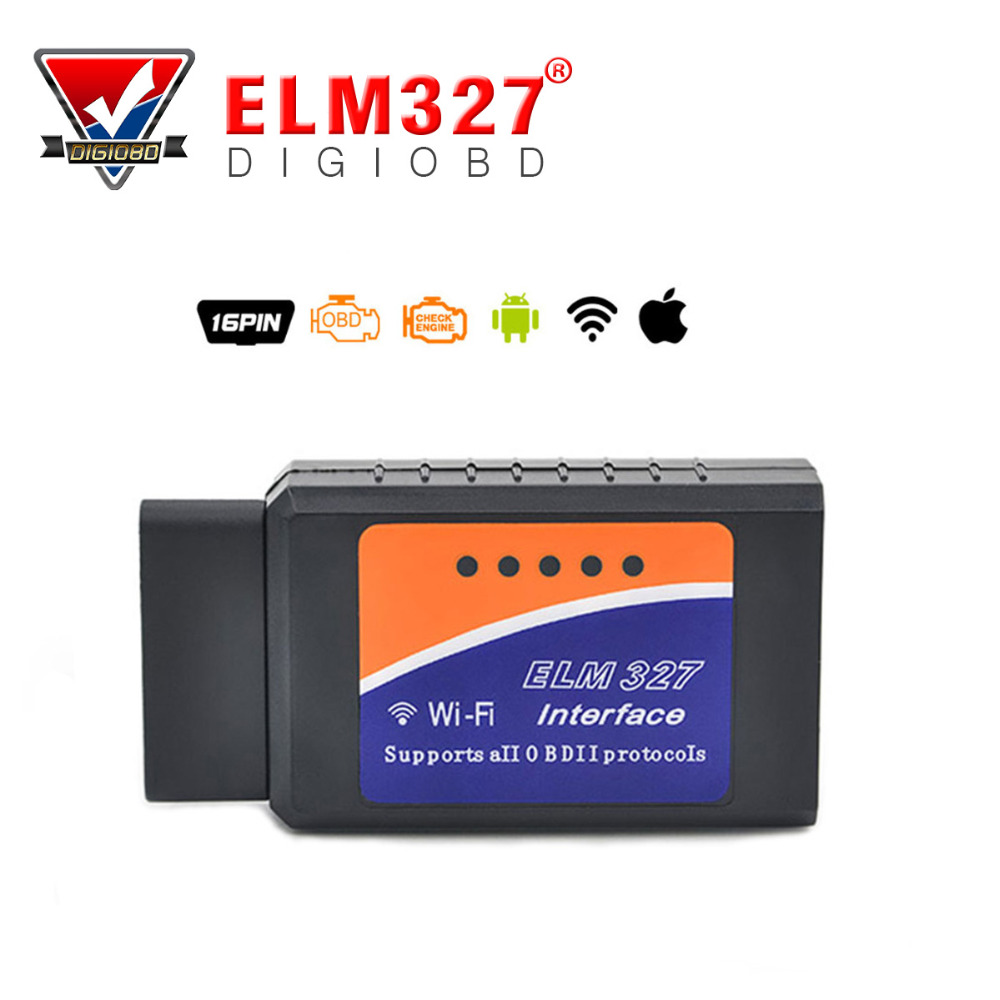WIFI ELM327 Wireless OBD2 Auto Scanner Adapter OBDII/EOBD2 Scan Tool WIFI327 for IPhone Ipad auto code reader WIFI 327(China (Mainland))