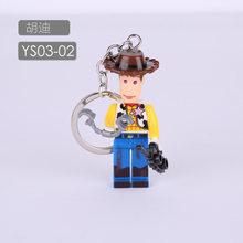 Novo 2019 Bolso 4 Disney Toy Story WOODY BUZZ LIGHTYEAR Keychain Alienígena Vinil de super-heróis da Marvel Figuras de Ação Brinquedos para As Crianças(China)