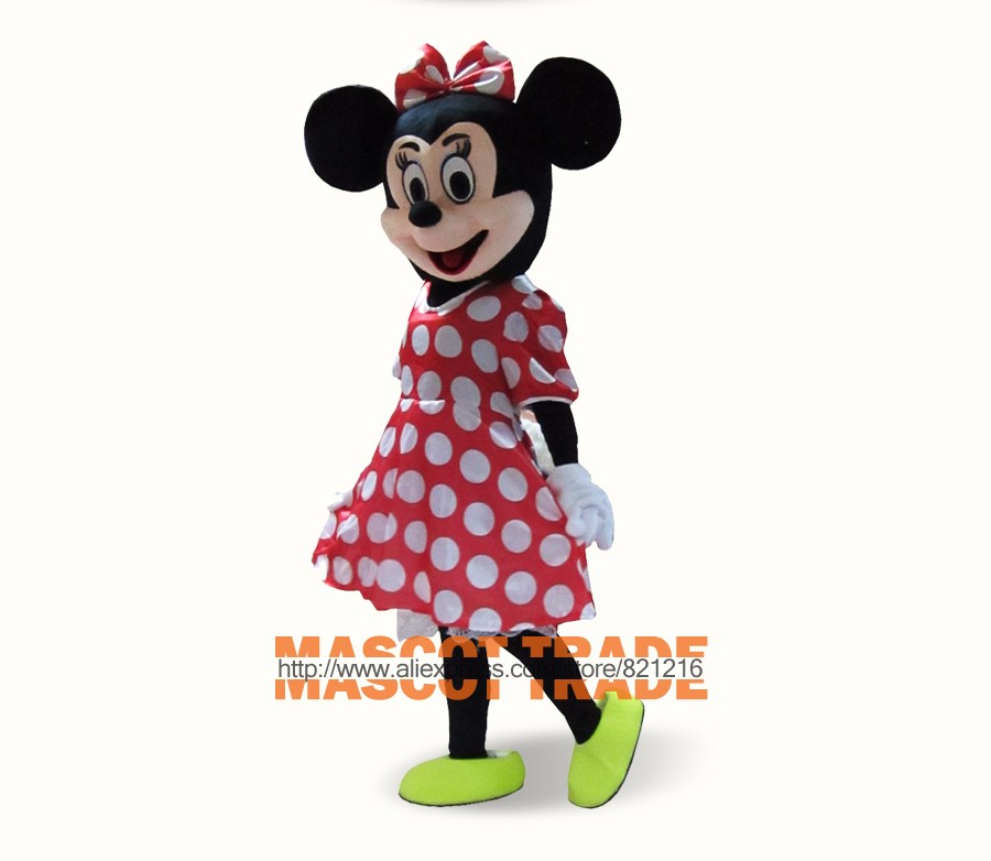 Brand new Pink Minnie Adult Size Cartoon Mascot Costumes
