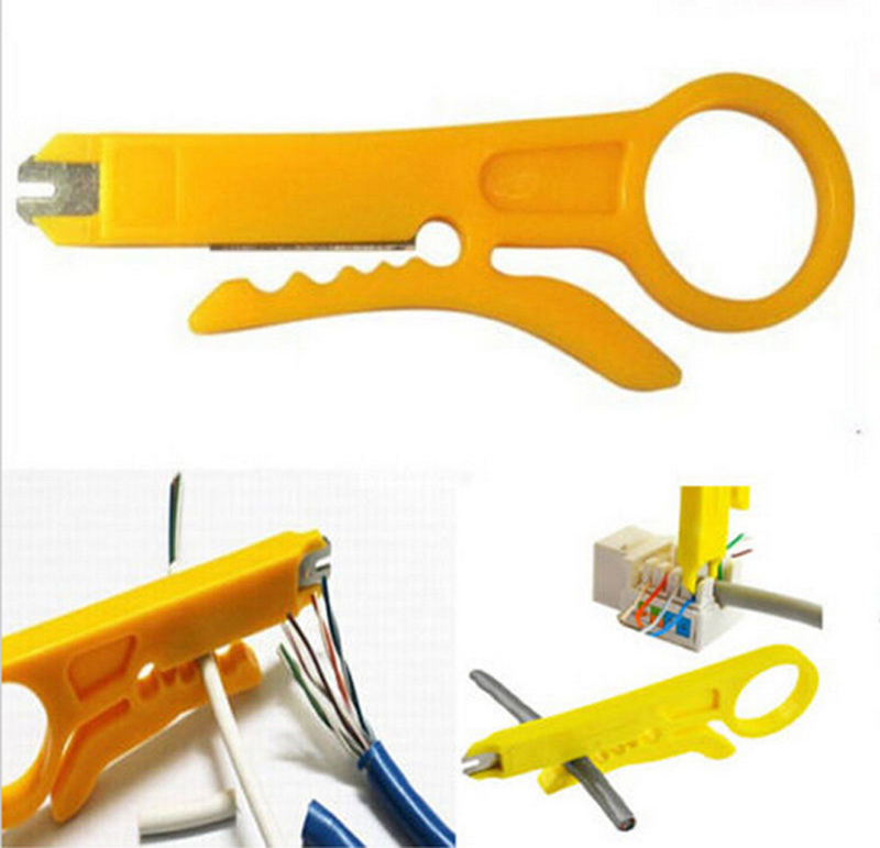 Portable Simple Mini Plier Practical Punch Down Network UTP Cable Cutter Home Wire Stripper Hand Tools(China (Mainland))