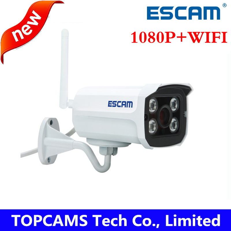 ESCAM 1080p Brick QD900 WIFI 2 MP full HD Network IR-Bullet Camera Day/Night IP66 onvif 2.2 3.6mm fixed Lens wireless ip camera(China (Mainland))