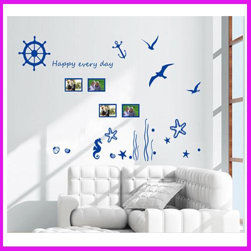 Wonderful Sea World Vinyl Wall Art Stickers Window Decals Bathroom Decor Decoration Stickers(China (Mainland))