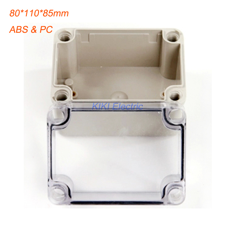 Outdoor Waterproof 80*110*85mm  IP66 Plastic Box ABS PC Transparent Cover enclosure use as junction box for project DS-AT-0811-1<br><br>Aliexpress
