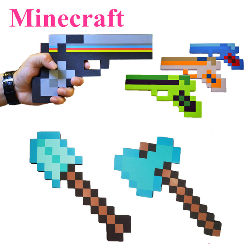 New Minecraft Toys Minecraft Foam Sword Pickax Gun EVA Toys Minecraft Foam Diamond Weapons Model Toys Brinquedos for Kids Gifts(China (Mainland))