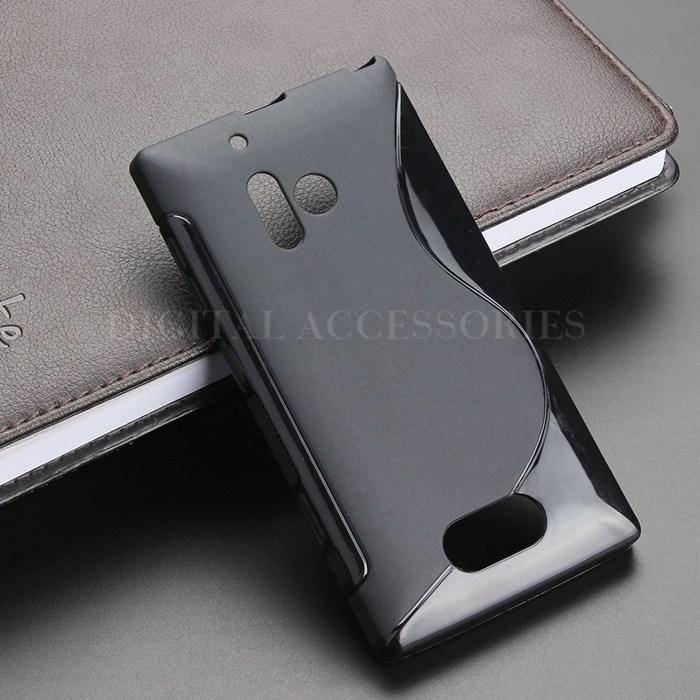 Black S-Line Anti Skidding Gel TPU Slim Soft Case Back Cover For Nokia 928 Lumia 928 Mobile Phone Rubber silicone Bag Cases(China (Mainland))