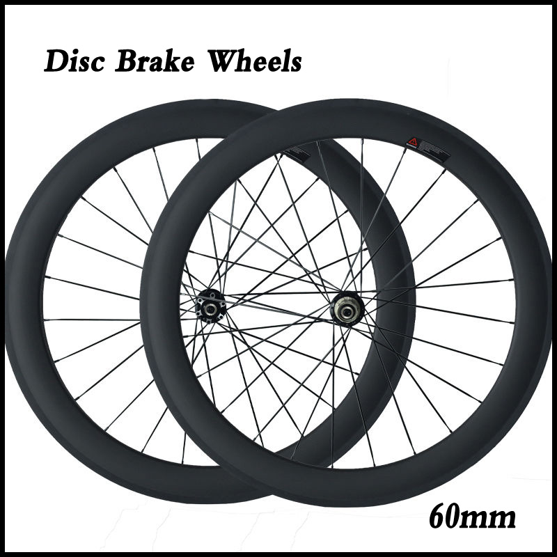 Disc Brake Carbon Wheels 700C 23mm Width 60mm Clincher Tubular Road Bike Cyclocross Disc Wheelset(China (Mainland))