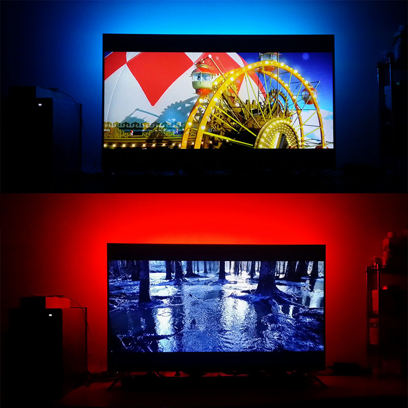 how to set up led strip on tv