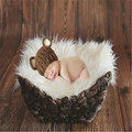 Faux Fur Blanket Basket Stuffer Mongolia Fur Photography Props Newborn Photography Props Fur wool Mat Background