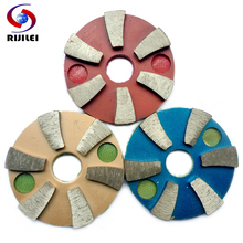(3JKP6) Free shipping3 PCS/lot 3inch / 80mm Metal polishing pads diamond concrete grinding pads for marble and concrete floor(China (Mainland))