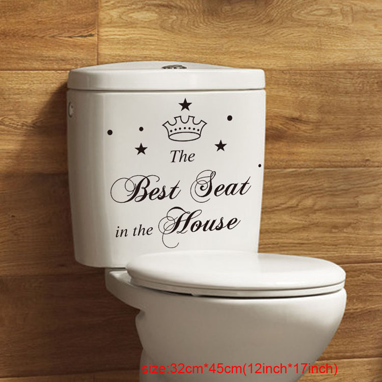 The Best Seat In House Decal PVC Wall Decals Vinyl Removable Stickers Home Decor Crafts Sticker Art Wall Paper DH067