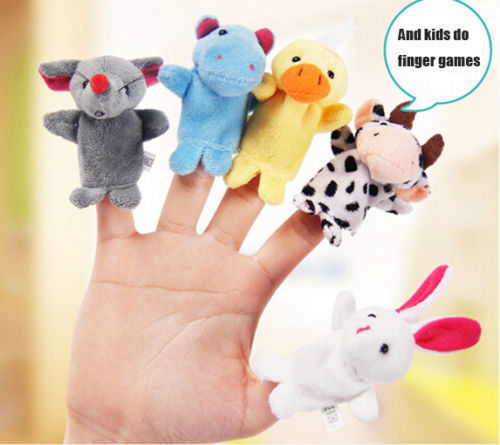 Гаджет  1pcs Family Finger Puppets Kids Plush Dolls Baby Educational Hand Toys Story Games UK None Игрушки и Хобби