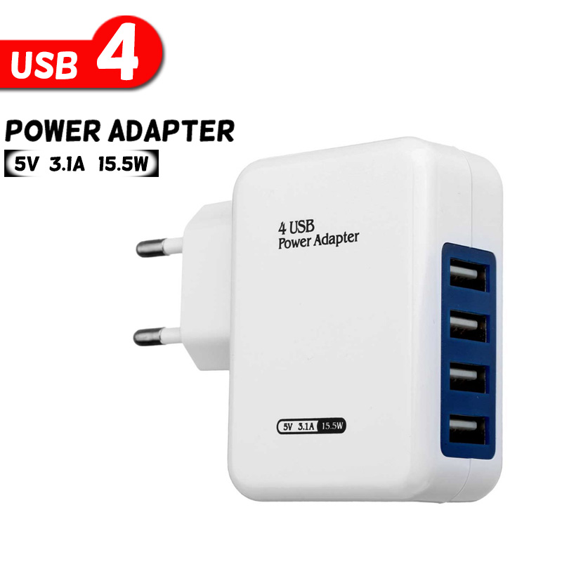 TOP High Quality Universal EU Plug 4 Port Micro USB Power Charger Adapter HUB For Samsung For iPhone For Xiaomi Mobile Phone etc(China (Mainland))