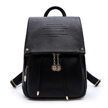 2016 Fashion Design PU Leather Women Backpack Casual School Bags For Teenagers Girls High Quality Female Travel Back Packs(China (Mainland))