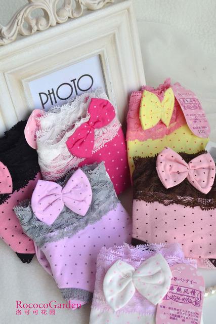 100% cotton dot princess panties briefs sexy young girl lace