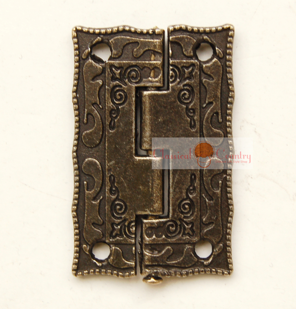 Wholesale Antique Hinges for Cabinet Trunk Jewelry Box Storage box Furniture Hardware Door Hinges Imitation Bronze(China (Mainland))