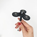 Black Tri Spinner Fidget Toy full ceramics bearing hand spinner office toy SpinGett SPINPAL EDC Spinner