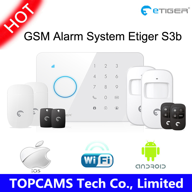etiger S3b Wireless Arm/disarm home security touch alarm system GSM transmitter 433mhz Fully-fledged control panel<br><br>Aliexpress