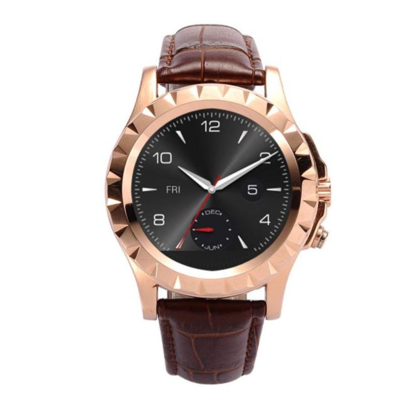 Hot-sale 3 Colors PU Waterproof Business Leather Bluetooth Gifts Smart Watch Sync Phone Mate Wrist Watches For IOS Android 1 pc(China (Mainland))