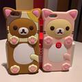 3D Cartoon Bear Rilakkuma Silicone Funda Capa Coque Case For Iphone 5 5s 6 6s 6Plus