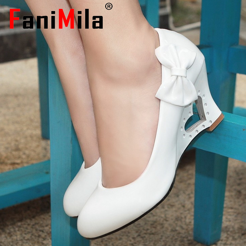 wedges quality thick high heel shoes women sexy fashion lady platform heels female pumps shoes P11860 hot sale EUR size 34-43(China (Mainland))