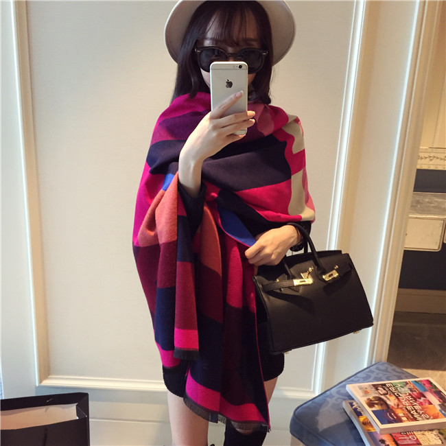 Winter 2016 font b Tartan b font Scarf Plaid Scarf New Designer Unisex Cashmere Basic Shawls
