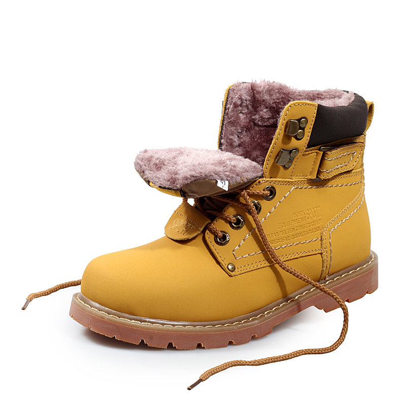 Fashion Men Boots Winter With Fur Warm Genuine Leather Work Boots Men Outdoor Shoes Winter Essential Men Shoes Plus Size(China (Mainland))