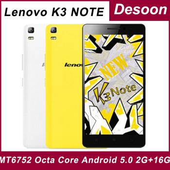 Оригинальный Lenovo K3 примечание Teana K50-T5 4 г FDD LTE телефон MTK6752 окта ядро Android 5.0 2 г оперативной памяти 16 г ROM 5.5 ' 1920 * 1080 экран