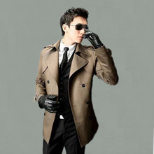 new arrival trench medium-long Mens fashion casual double breasted high quality plus sizeS M L XL XXL3XL.4XL.5XL.6XL.7XL.8XL.9XL(China (Mainland))