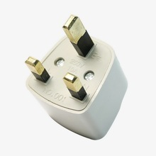 Wholesales Universal Travel Adapter AU US EU to UK Adapter Converter 3 Pin AC Power Plug Adaptor Connector