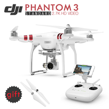 Profession Drone DJI Phantom 3 Standard FPV Dron Build-in GPS System with Brushless Gimble & 2.7K HD Real-time Video Camera