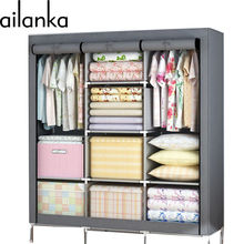 Korean fashion simple cloth wardrobe waterproof non-woven fabrics reinforce steel closet cloth cabinet Bedroom Furniture h226(China (Mainland))