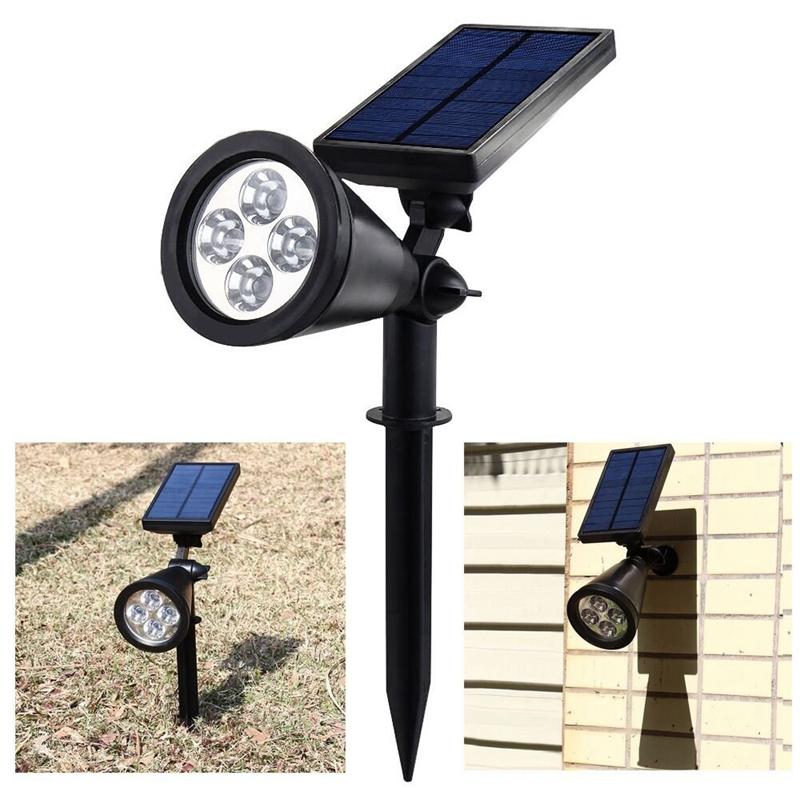 Ulincos ul08 4 led solar garden light 200 lumens for Spot solaire 200 lumens