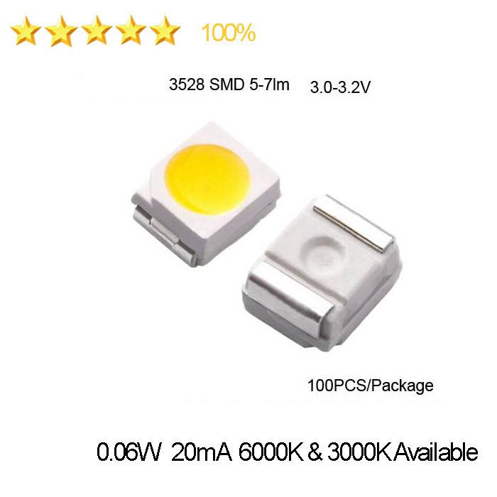 SMD LED SOP 2 2835 60ma GOLDEN WHITE BIANCO CALDO Blanc very flat and bright 3528