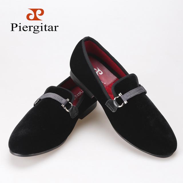 Ткань пряжкой черный бархатные туфли мужчины , курящие тапочки мокасины мужчины квартиры ...