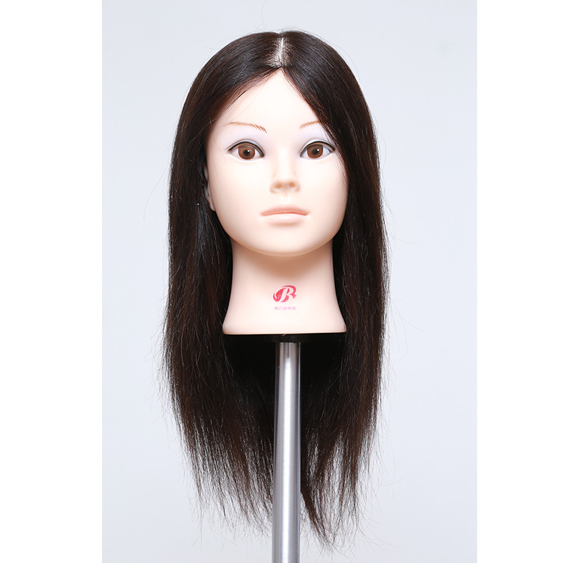 100%Real Hair Mannequin Head With Hair Female Human Hair Training Maniqui Head For Hairdresser Hairdressing Doll Manikin Head