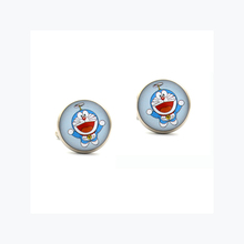 Doraemon gaming game movie film character hero Silver Cufflinks Cuff links studs men's party wedding Festival gift accessory