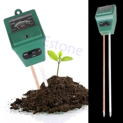 A96 Free Shipping 1PC 3in1 Plant Flowers Soil PH Tester Moisture Light Meter PY PY