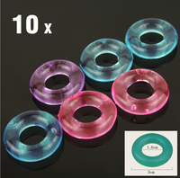 10Pcs Stay Hard Donuts Silcone Cock Rings, Delaying Ejaculation Rings, Penis Ring, Flexible Glue Cockring, Sex Toys for Men