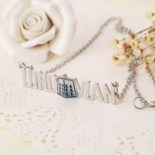 New 2014 Hot Selling Wholesale Doctor Who Whovian Tardis Phone Booth Call Box Pendant Necklace Jewelry For Men and Women