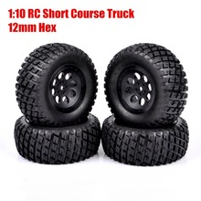 Buy 4Pcs/set 12mm Hex Rubber Tires Wheel RC 1:10 TRAXXAS SLASH HPI HSP Short Course Truck 902 for $19.99 in AliExpress store