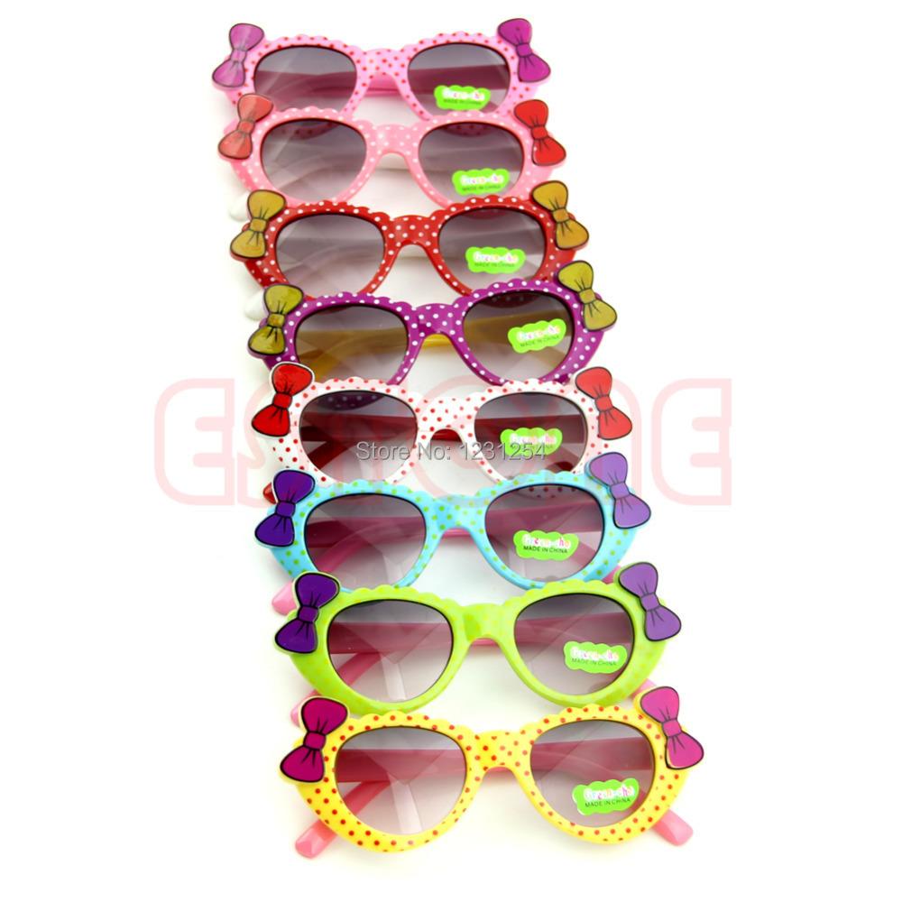 Z101 inchCute Baby Boys Girls Kids Sunglasses Glass Child Goggles Bow Eyewear UV 400 - Julia's 2014 store