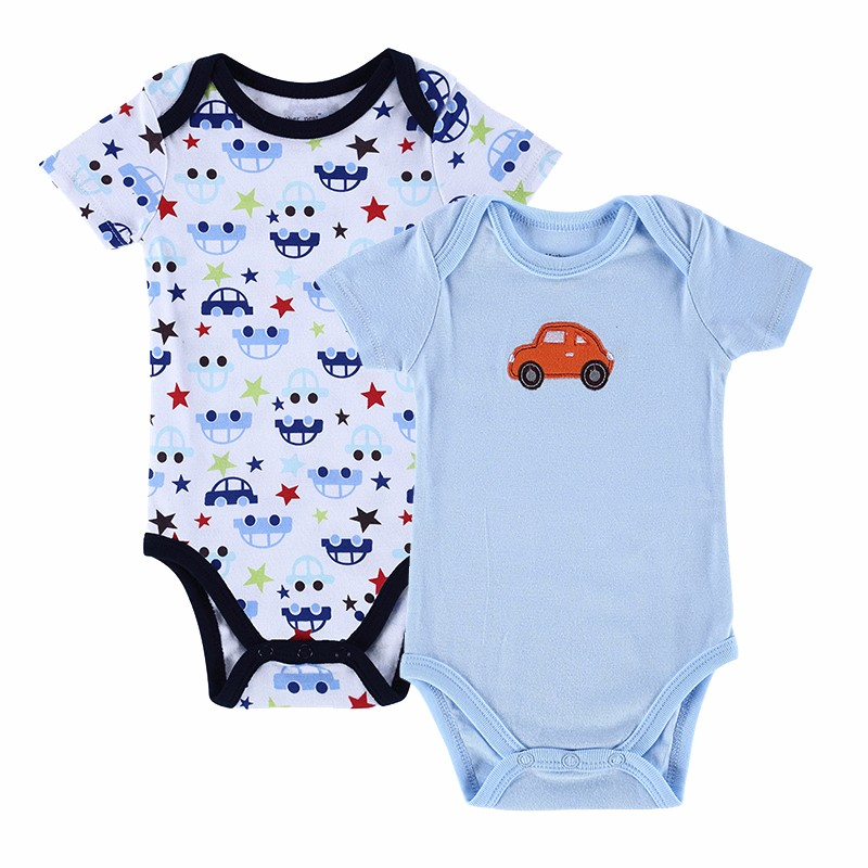 2 PCSLOT 2016 Fashion High Quality Baby Romper Boy & Girl Cartoon Animal 0-12M Jumpsuit Ropa Bebe Body Suit Baby Clothes Romper (3)