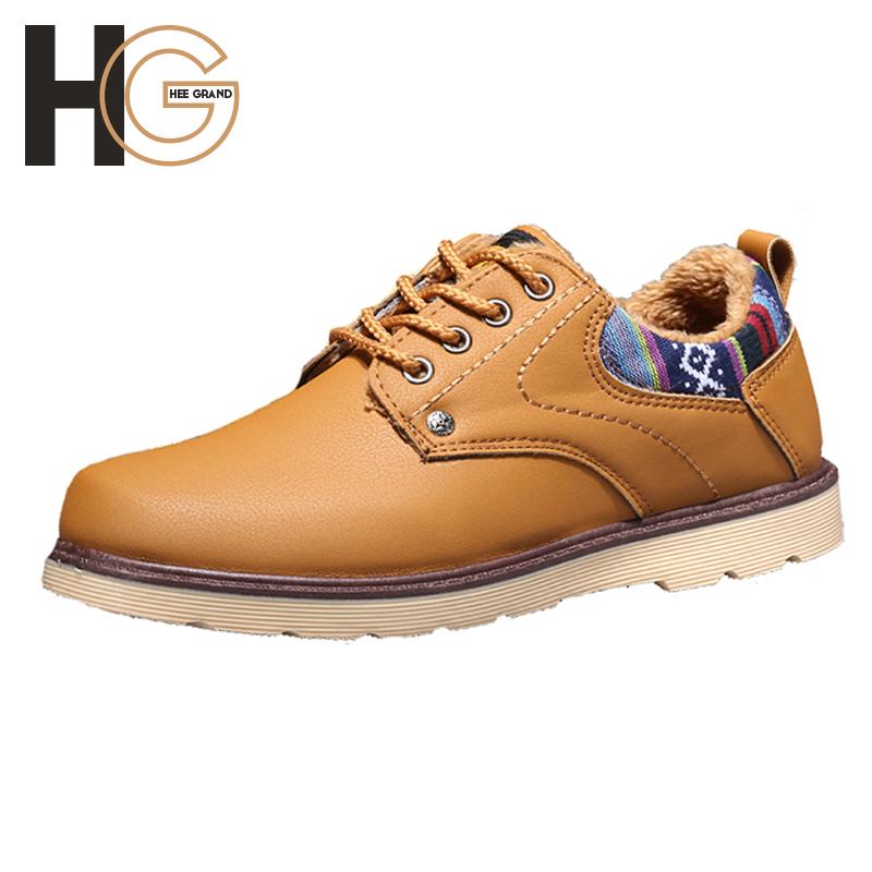 Zapatos Hombre Autumn&Winter Fashion Men's Casual Shoes British PU Leather Shoes Plus Velvet Warm Cotton Shoes Male Flat XMR1184