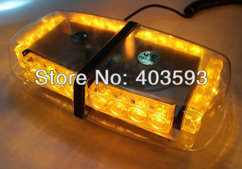 12' 24 LED FIRE TOW LIGHTBAR AMBER Ceiling Strobe FREE SHIPPING(China (Mainland))